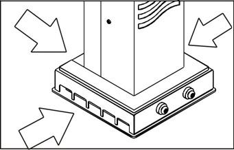 Luftsterilisator-Einlassoeffnungen